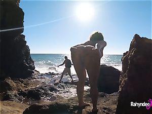 Rahyndee James public beach tearing up pov