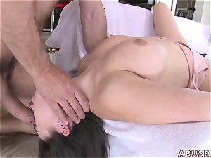 xxx bondage gangbang very first time Melissa Moore prays For harsh fuck-a-thon