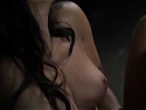 Asa Akira masturbates as she sees a kinky couple