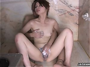 Tsubaki getting drilled in the douche and deep throats a knob