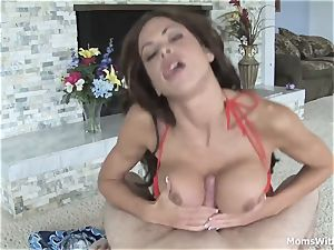 cougar Hunter Bryce pov blow-job With Maintenance fellow