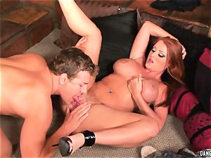 Sophie Dee hatch fucks this rigid throbbing pipe