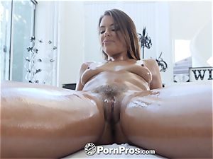 PORNPROS greasy massage creampie cramming