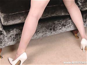 big-boobed sandy-haired drains in underwear vintage nylons