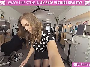 VRBangers.com Hairdresser Ella drilled rock-hard and facial