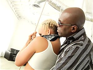 Phoenix Marie getting her bouncy bum fucked with ebony man sausage