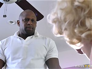 Harlow Harrison getting filled with black rod