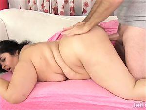 Fatty Paige Jenson pounded by fat man meat