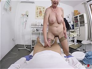 busty granny gets pov boinked by her physician