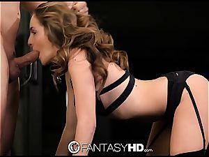 servant Kimmy Granger caned