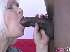 grandmother deepthroats bbc
