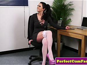 big-titted office british deepthroating stiffy until facial