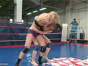 Mandy Dee had a cat fight with a naughty cockslut