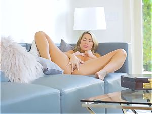 August Ames rails Logan Pierce on the couch