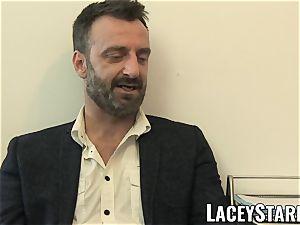 LACEYSTARR - GILF gobbles Pascal milky jizz after orgy