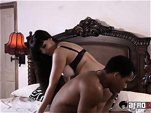 buxom Latina Mercedes Carrera bbc plowed and creamed