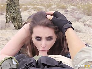 iron Gear Solid 5 anal porno parody with insane brunette Casey Calvert