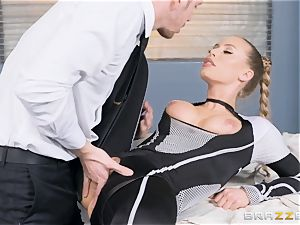 Nicole Aniston gets a facial after a hard deep pulverize