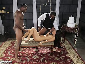 Groom with his finest pal pulverize Bride in the dungeon