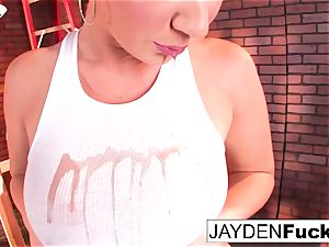 stellar Jayden Jaymes Plays With Her thick orbs