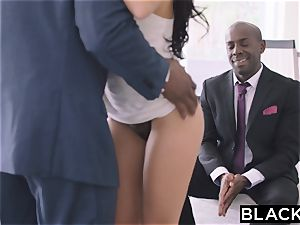 BLACKED steamy Megan Rain Gets DP'd By Her Sugar dad and His pal