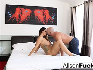 bodacious Alison takes some great knob in her bedroom