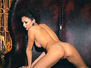 slender small Ariana Marie spectacular rubber solo masturbation