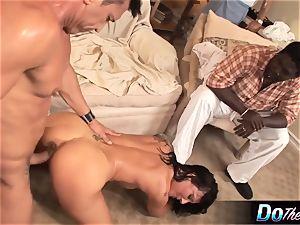 milky wife takes white boner in front of black husband