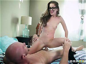 expert instructor Johnny Sins punishes naughty student in glasses Kimmy Granger