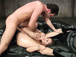 Dani Daniels gets her hot puss filled with rock-hard beef whistle