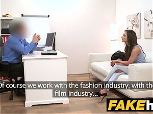 fake Agent supreme body romped on the casting bed
