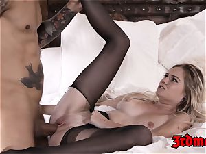blinding Chloe Foster bj's hard-on before taboo fuck-a-thon