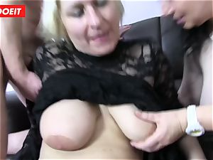 German four way fuck-a-thon with super-naughty plumper grandmothers