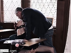goth jerking In Detention is rectally disciplined