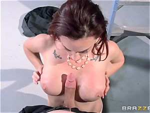 Chanel Preston pokes her gorgeous guy at work