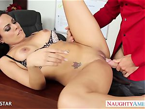 Office honey Luna starlet railing schlong