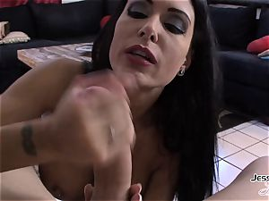 Jessica Jaymes antsy to get shaft in her facehole
