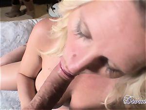 Devon Lee is loving her man's crop slammed in her yummy throat