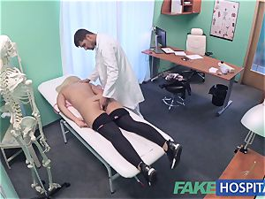 FakeHospital huge-titted Russian stunner drinks cumload