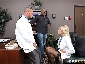 super hot physician Audrey show smashed in her uniform