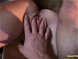 nice dark-haired Eden youthful stranded taken home and muff drilled