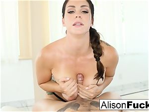 Alison Tyler gives a splendid inhale job with jug humping