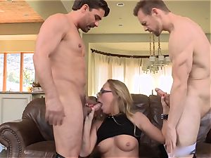 Carter Cruise dual romped by 2 giant sausages