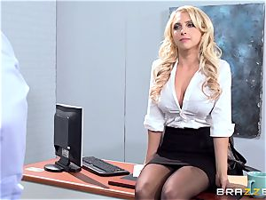 luxurious office babe Alix Lynx takes a second helping