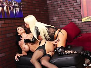 two super hot milfs have cord on bang-out