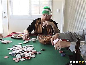 Sarah Jessie romping her husbands poker mate