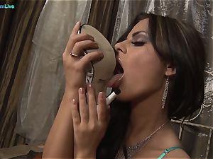 molten ebony Angelika striptease and solo session