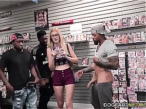 Alexa grace deep-throats BBC's at adult bookstore