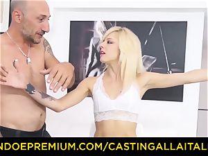 casting ALLA ITALIANA super-fucking-hot blonde bursts in rock-hard anal invasion