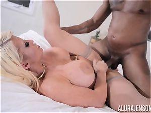 bi-racial cootchie slammed Alura Jenson with immense ebony weenie